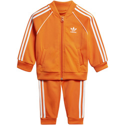 Textiel Kinderen Trainingspakken adidas Originals SST Trainingspak orange / blanc