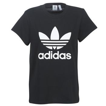 Textiel Dames T-shirts korte mouwen adidas Originals BOYFRIEND TEE Zwart