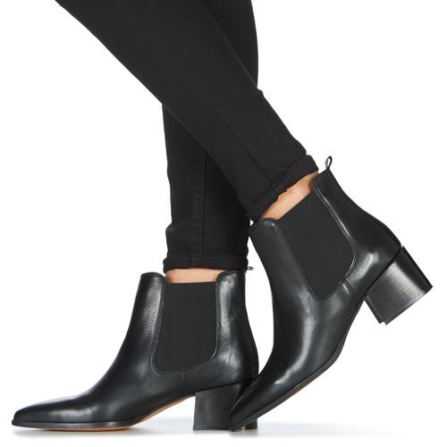 André NINOU Zwart - Gratis levering  Schoenen Laarzen Dames