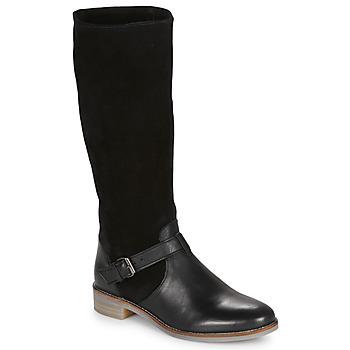 Schoenen Dames Hoge laarzen André ELIA Zwart