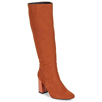 Schoenen Dames Hoge laarzen André LUXURY Oranje