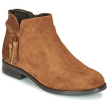 Schoenen Dames Laarzen André MILOU Camel