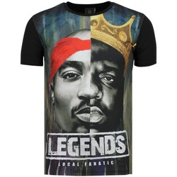 Textiel Heren T-shirts korte mouwen Local Fanatic Christopher Notorious PAC Legends Zwart