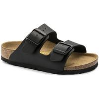 Schoenen Kinderen Leren slippers Birkenstock Arizona bf Zwart