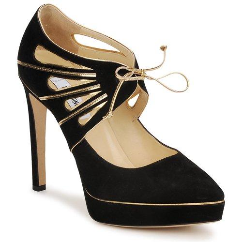 Schoenen Dames pumps Moschino MA1004 Zwart - goud