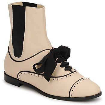 Schoenen Dames Laarzen Moschino MA2103 Beige