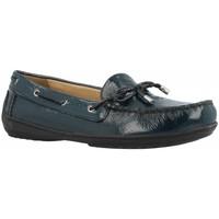 Schoenen Dames Bootschoenen Geox D JAMILAH Blauw