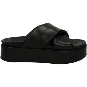 Schoenen Dames Leren slippers Habillé HABILLé black-nero