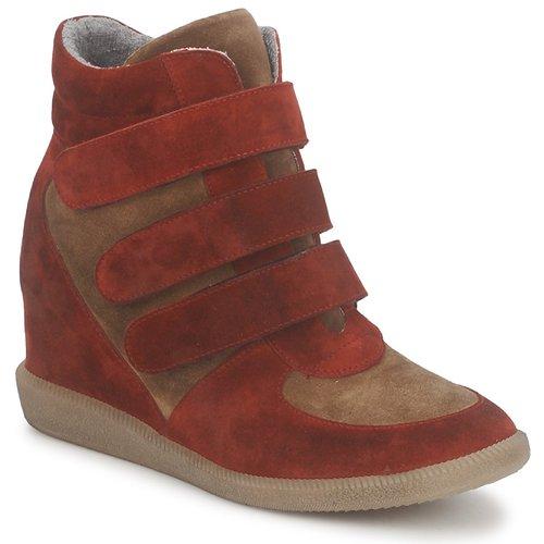 Schoenen Dames Hoge sneakers Meline IMTEK BIS Bruin / Rood