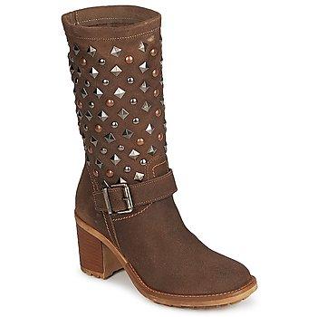Schoenen Dames Hoge laarzen Meline DOTRE Bruin