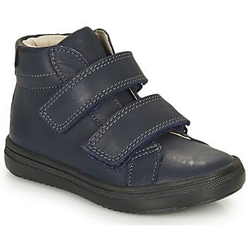 Schoenen Jongens Hoge sneakers André EDGAR Marine