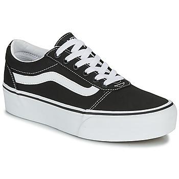 Schoenen Dames Lage sneakers Vans WARD PLATFORM Zwart