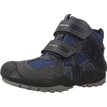 Schoenen Jongens Laarzen Geox J N.SAVAGE B.B ABX A Blauw