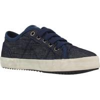 Schoenen Jongens Lage sneakers Geox J ALONISSO BOY Blauw