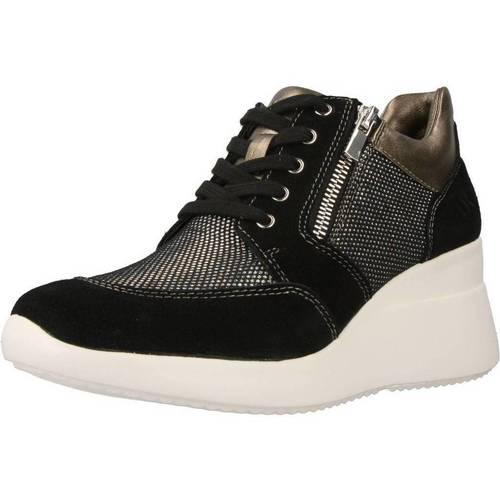 Schoenen Dames Hoge sneakers Lumberjack SW24505 Zwart