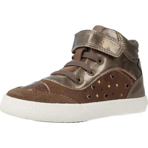 Schoenen Meisjes Hoge sneakers Geox B KILWI GIRL Bruin