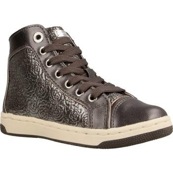 Schoenen Meisjes Hoge sneakers Geox JR CREAMY Grijs