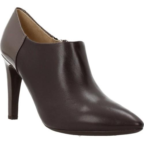 Schoenen Dames Low boots Geox D CAROLINE Bruin