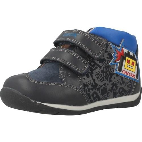 Schoenen Jongens Hoge sneakers Geox B EACH BOY Blauw