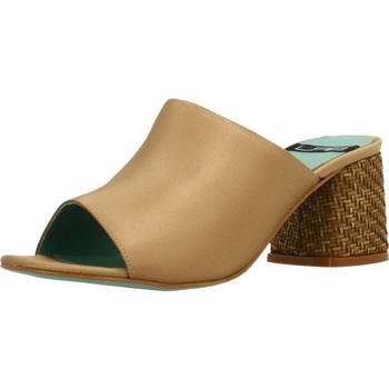 Schoenen Dames Leren slippers Lab 18254 431 Goud