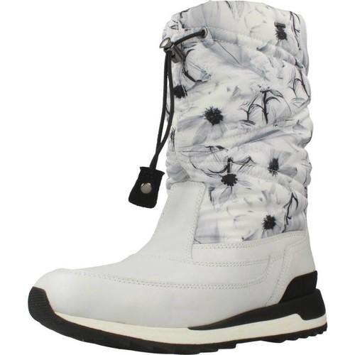 Schoenen Dames Snowboots Geox D ANEKO B ABX Wit