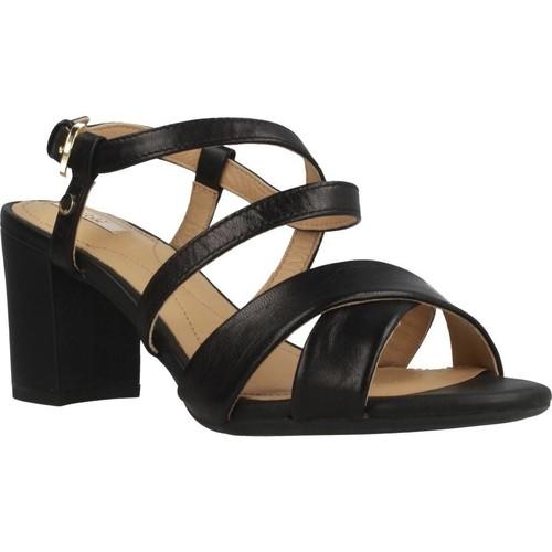 Schoenen Dames Sandalen / Open schoenen Geox D NESA Zwart
