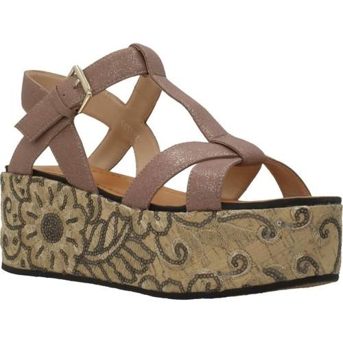 Schoenen Dames Sandalen / Open schoenen Elvio Zanon H0804P Bruin