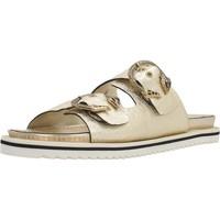 Schoenen Dames Leren slippers Elvio Zanon H3804P Goud