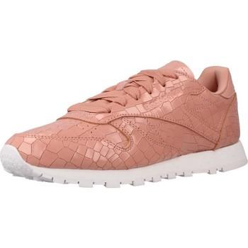 Schoenen Dames Lage sneakers Reebok Sport CL LTHR CRACKLE Roze