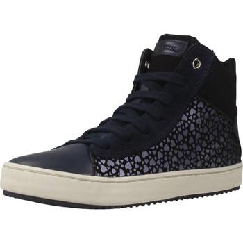Schoenen Meisjes Hoge sneakers Geox J KALISPERA G.D Blauw
