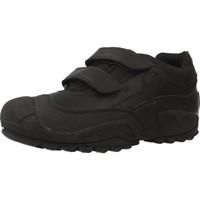 Schoenen Jongens Lage sneakers Geox J NEW SAVAGE BOY B A Zwart