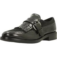Schoenen Dames Derby Geox DONNA BROGUE Zwart