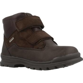 Schoenen Jongens Laarzen Geox JR WILLIAM B ABX Bruin