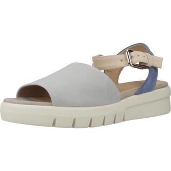 Schoenen Dames Sandalen / Open schoenen Geox D WIMBLEY SANDAL Blauw