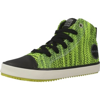 Schoenen Jongens Hoge sneakers Geox J ALONISSO B. F Groen