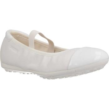 Schoenen Meisjes Ballerina's Geox J PIUMA BAL C Wit