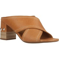 Schoenen Dames Leren slippers Alpe 4214 15 Bruin