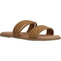 Schoenen Dames Leren slippers Coolway MARCIA Bruin