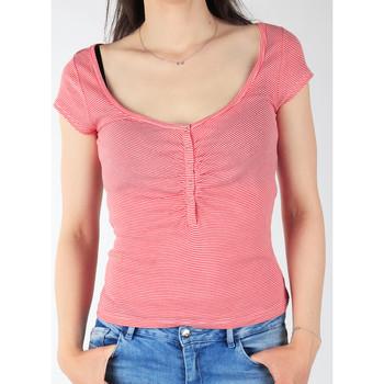 Textiel Dames T-shirts korte mouwen Lee L428CGXX red, white