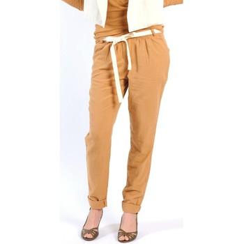 Textiel Dames Losse broeken / Harembroeken American Vintage PANTALON LEA139 CUMIN Geel