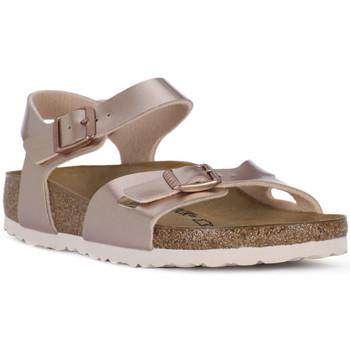 Schoenen Meisjes Sandalen / Open schoenen Birkenstock RIO METALLIC LILAC Grigio