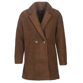 Textiel Dames Mantel jassen Only ONLNINA Bruin