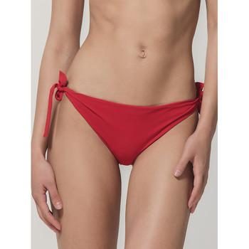 Textiel Dames Bikinibroekjes- en tops Luna Blauwe Sense  Splendida rood geknoopte zwempakkousen Zand
