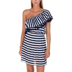 Textiel Dames Korte jurken Lisca Havana  Beach Dress Blauw Marine