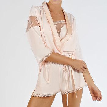 Textiel Dames Pyjama's / nachthemden Lisca Blossom  bolero jack Lichtroze Poudré