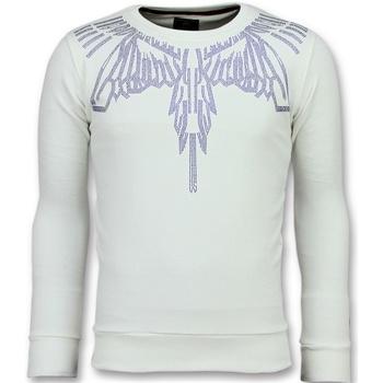 Textiel Heren Sweaters / Sweatshirts Local Fanatic Eagle Glitter - Merk Sweater - 6340W - Wit