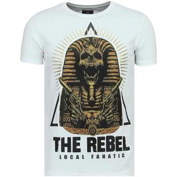 Textiel Heren T-shirts korte mouwen Local Fanatic Rebel Pharaoh - T-Shirt - 6322W - Wit