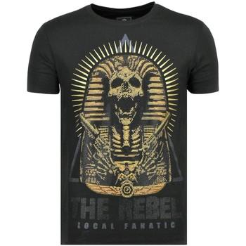 Textiel Heren T-shirts korte mouwen Local Fanatic Rebel Pharaoh - T-Shirt - 6322Z - Zwart