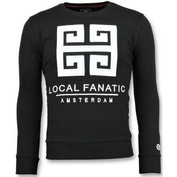 Textiel Heren Sweaters / Sweatshirts Local Fanatic Greek Border - Leuke Sweater - 6350Z - Zwart