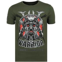 Textiel Heren T-shirts korte mouwen Local Fanatic Savage Samurai - Print T-Shirt - 6327G - Groen